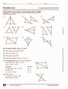 practice 4 2 triangle congruence by sss and sas 9th 11th