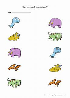 dinosaur matching worksheets 15344 dinosaur matching pictures worksheet mummy g early years resources