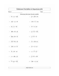 basic algebra worksheets one variable 8537 search equations page 1 weekly sort