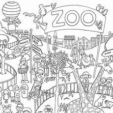 zoo colouring in poster reallygiantposters