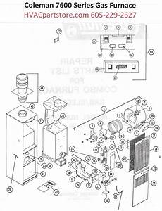 7654 856 Coleman Gas Furnace Parts Tagged Quot Analog