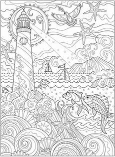 coloring pages for adults sea animals 17312 welcome to dover publications ch fanciful sea coloring pages animal coloring