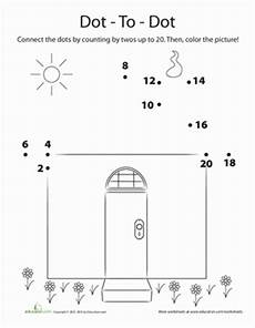 counting by 2s dot to dot worksheet education com