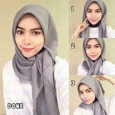 Tutorial Memakai Jilbab Segi Empat Model Rawis Mayra