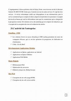 cout developpement application android rapport de stage galaxy sonor
