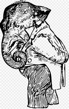 Gambar Ilustrasi Gajah Iluszi