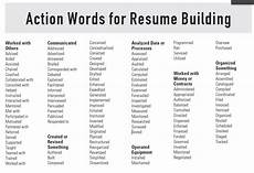 resume building tips action words for resume building