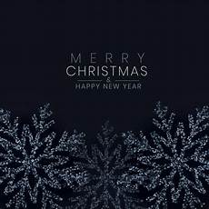 merry christmas black snowflake made with glitter background vector free download