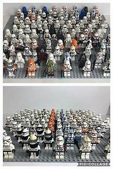5 clone stormtrooper army lego wars minifigures lot