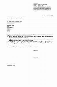 contoh surat permohonan nomor faktur pajak