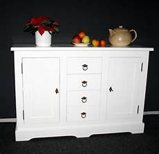 Sideboard Weiß Holz - kommode 120x81x38cm 2 t 252 ren 4 schubladen pappel massiv