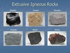 give an exle of extrusive igneous rock brainly in