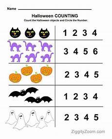 halloween preschool worksheet for counting practice halloween worksheets halloween math