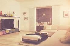 3d Moderne Wohnzimmer Mit Essecke Retro Look