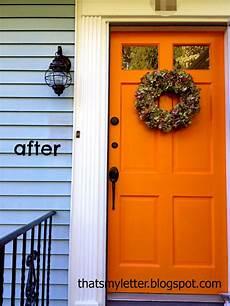 that s my letter front door makeover