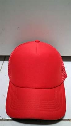 jual topi trucker polos warna full merah di lapak fleche collection fleeche