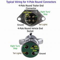 trailer wiring socket recommendation for a 4 pole trailer connector etrailer com