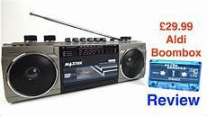 aldi specialbuys cassette boombox review 8 jun 17