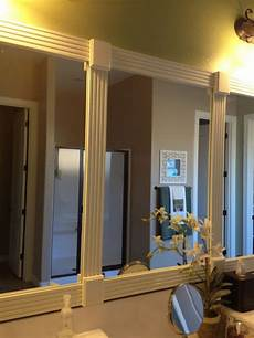 using trim to frame bathroom mirror bathroom mirror makeover home home decor