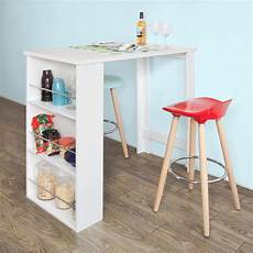 table cuisine avec rangement sobuy 174 kitchen dining table coffee bistro bar table with