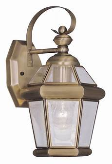 antique brass 1 light 60w outdoor wall sconce with medium