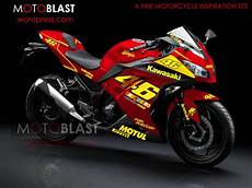 Fi Modif by Modif Striping New Kawasaki 250r Fi Merah Motoblast
