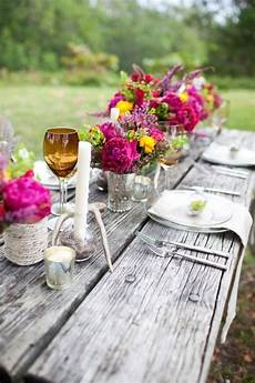 19 gorgeous outdoor rustic wedding table decoration