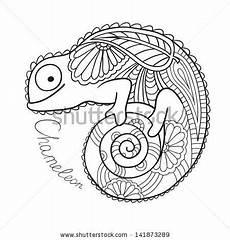 mandala coloring pages lizard 17931 set in a metallic color mandalas stock vector illustratie 106288943 kameleon