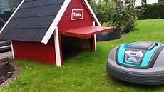 Garage Für Mähroboter Gardena - automower garage mit tor f 252 r gardena r40li teil 2