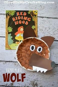 paper plate wolf kid craft nursery rhyme crafts