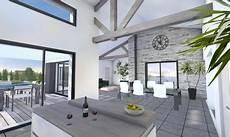 maison poutres apparentes design contemporain la chaume en