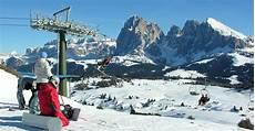 Skigebiet Seiser Alm Skifahren Auf Der Hochalm