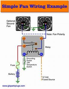 wiring diagram for electric fan relay automotive electric fans gtsparkplugs