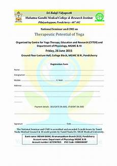 registration form for the national seminar cme therapeutic po