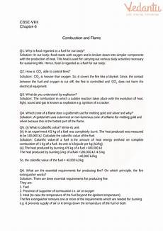 grade 8 science worksheets 13462 cbse class 8 science combustion and worksheets with answers chapter 6