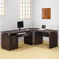 l shaped home office furniture contemporary dark cappuccino l shape desk office sets