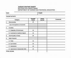 free 10 sle talent show score sheet templates in docs ms word pages sheets