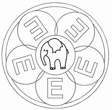 kostenlose malvorlage mandalas mandala buchstabe e zum