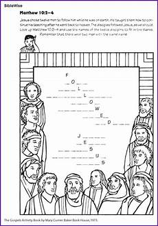 jesus disciple s names fill in the blanks kids korner biblewise