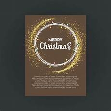 merry christmas bokeh background invitation card template vector free download