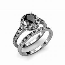 black white diamond bridal ring wedding band 1 90