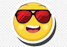 Kacamata Emoticon Kuning Gambar Png