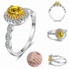 fashion sell fashion elegant ring with yellow stones best selling ring for wedding