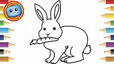 how to draw a rabbit colouring book simple drawing