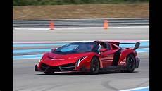 Lamborghini Veneno Roadster On The Track Exhaust Sound