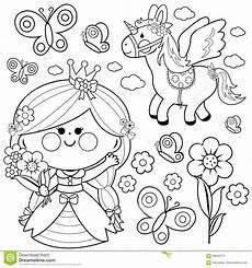 princess unicorn castle coloring page