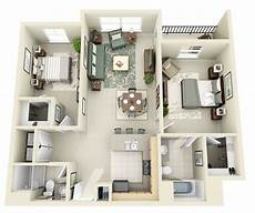 3 ideas for a 2 bedroom home includes floor 50 two quot 2 quot bedroom apartment house plans 3d house plans