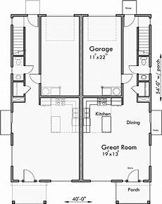 narrow lot duplex house plans narrow lot duplex house plans with rear garage d 608