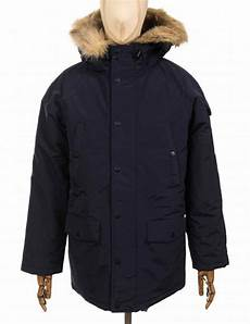 carhartt wip anchorage parka jacket navy clothing