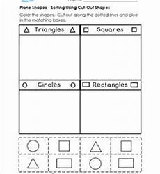 sorting by shape worksheets for kindergarten 7887 plane shapes worksheets kindergarten shapes